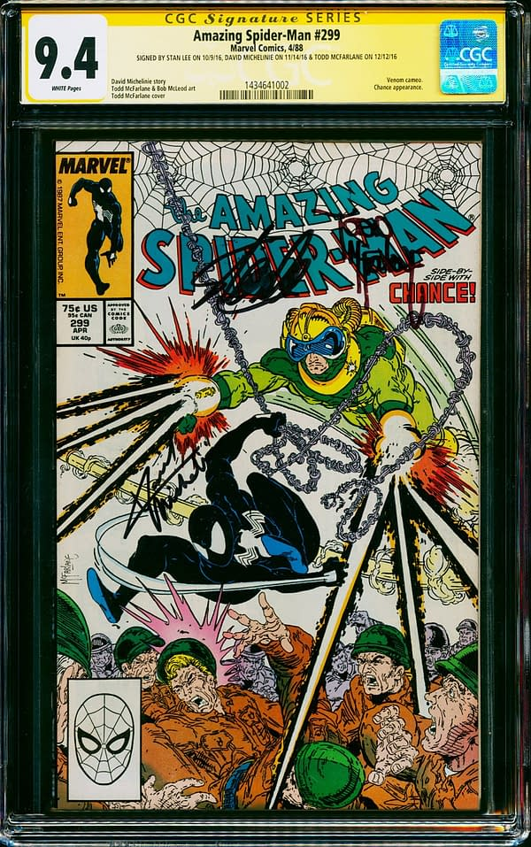 Amazing Spider-Man #299 Signed By Stan Lee On Auction Today