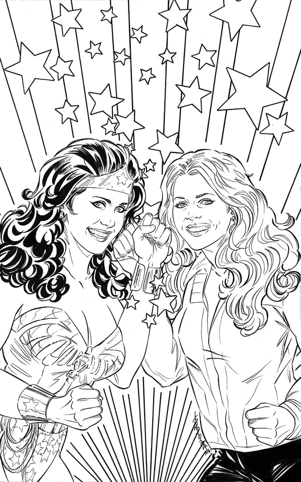 Wonder Woman '77 Bionic Woman Coloring Book Cover