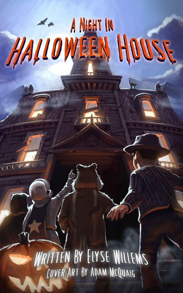 The cover of A Night In Halloween House, courtesy of Elyse Willems.