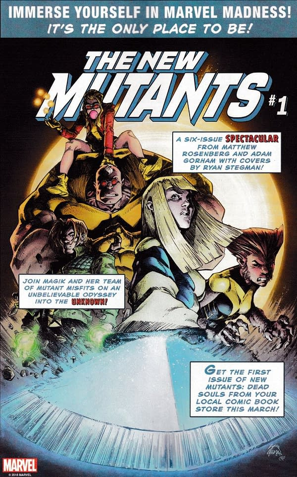Today's Marvel Retro Ads Start with the New Mutants