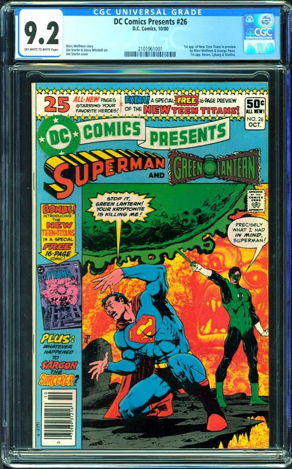 First Appearance Of The New Teen Titans On Auction On Comic Connect