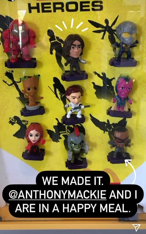 The Falcon and the Winter Soldier get the Happy Meals honor (Image: screencap)