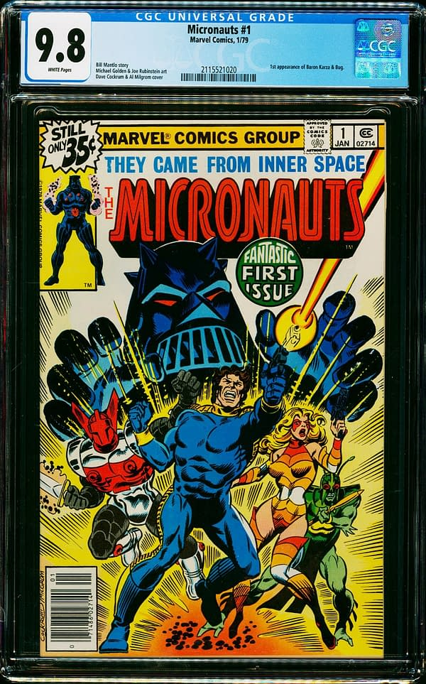 Micronauts #1 CGC 9.8 On Auction Right Now On ComicConnect