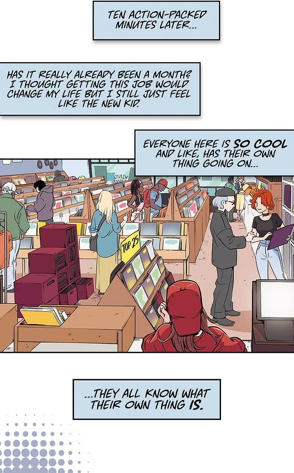 How Tapas Have Cut Up Carly Usdin and Nina Vakuev's Heavy Vinyl as a Webtoon – and Will Launch a New OGN