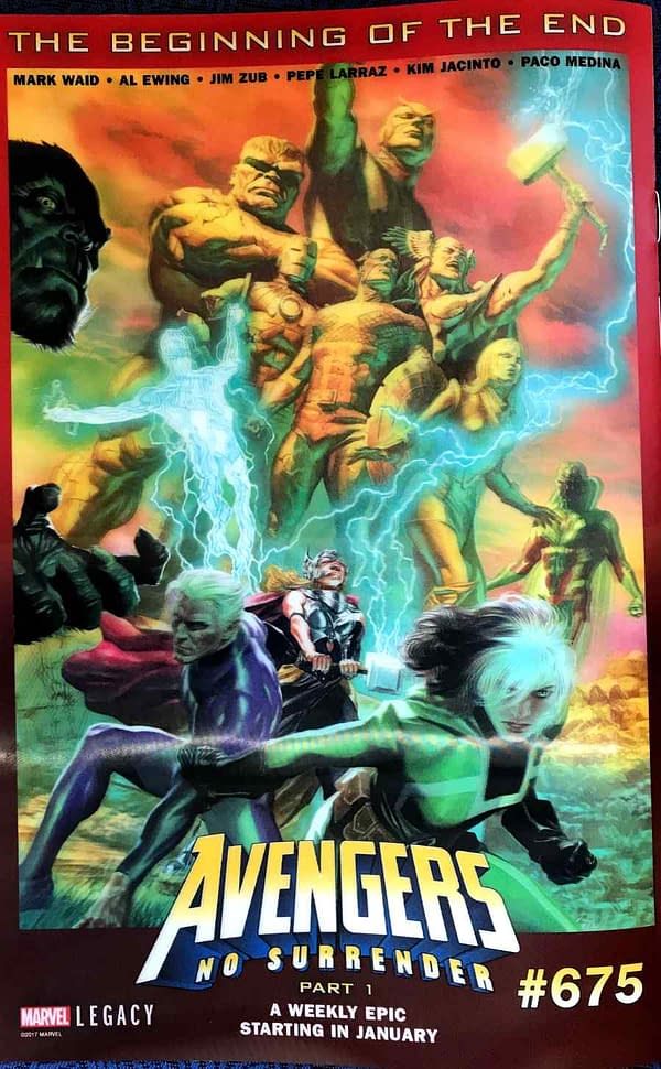 Avengers #675 Begins Weekly Avengers Story For 2018, No Surrender, With Mark Waid, Al Ewing, Jim Zub, Pepe Larraz, Kim Jacinto And Paco Medina