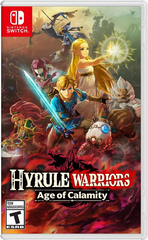 A look at the box art for Hyrule Warriors: Age Of Calamity, courtesy of Nintendo.