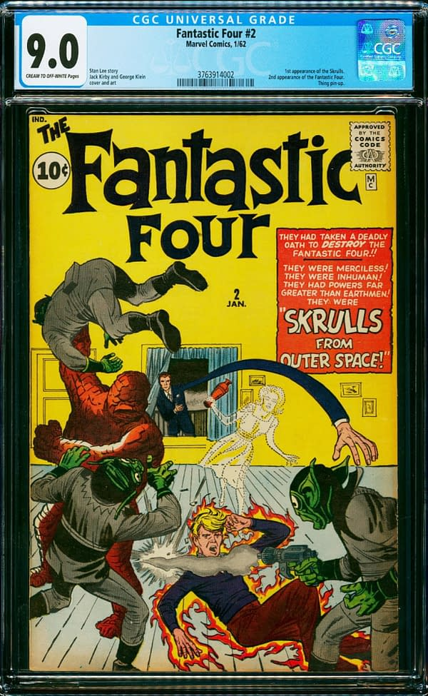 First Appearance Of Doctor Doom and Skrulls, Up for Auction Today