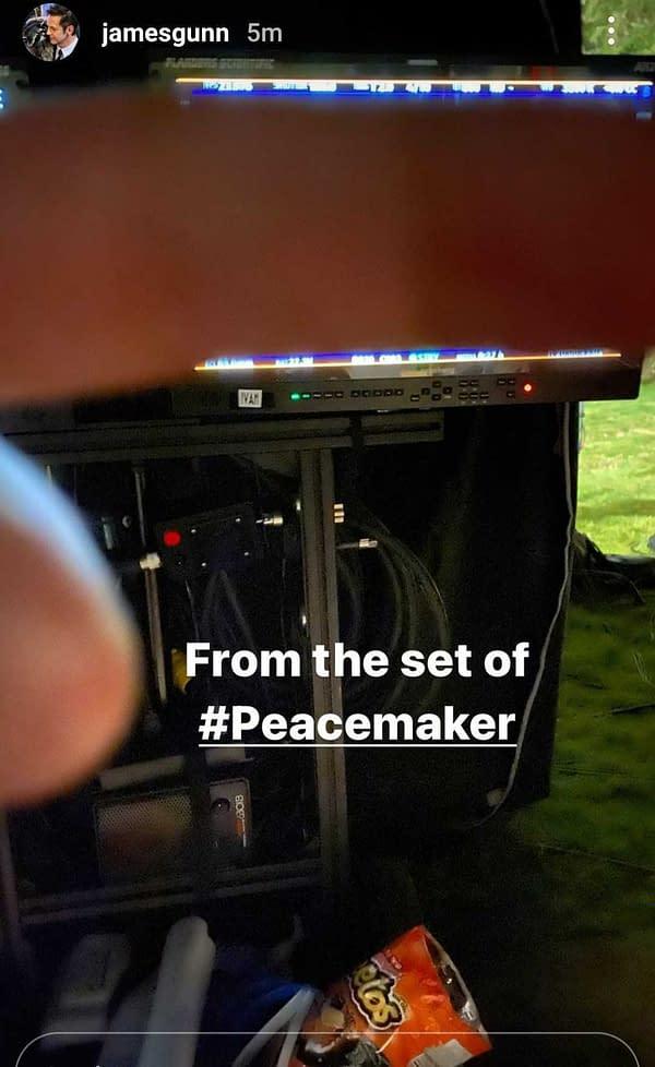 Peacemaker: James Gunn Unleashes The Spoiler Finger; Cheetos Question