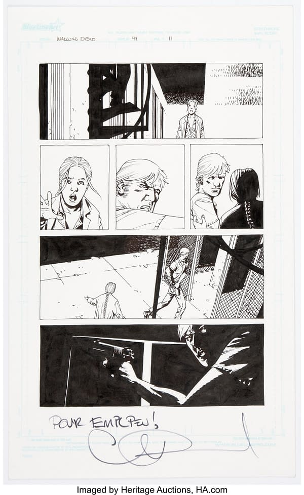 Charlie Adlard The Walking Dead #41 Story Page 11 Original Art (Image, 2007). Credit: Heritage Auctions