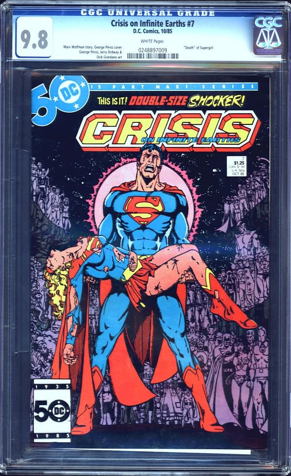 Crisis On Infinite Earths #7 9.8 Up For Auction Right Now
