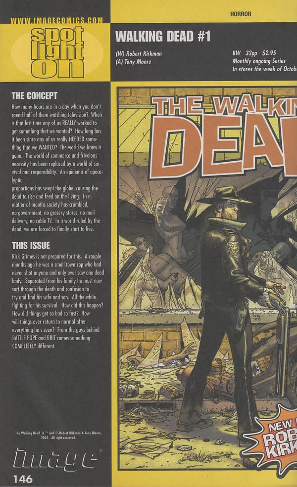 The First Appearance Of Robert Kirkman's The Walking Dead For 99 Cents On eBay (UPDATE)