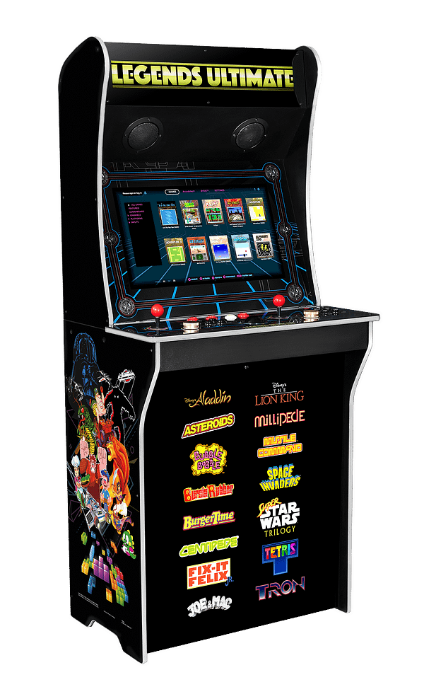 Over 300 games are loaded onto the Legends Ultimate Arcade Cabinet, courtesy of AtGames.