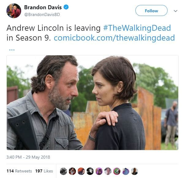 Is Rick Grimes Shuffling off The Walking Dead's Mortal Coils After Season 9?