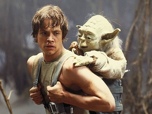 Star Wars: Episode V - The Empire Strikes Back Mark Hamill and Yoda