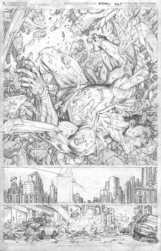 Jim Lee's First Two Pages for Brian Bendis' Action Comics #1000 – and a Six Hour Video of Him Drawing One