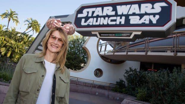 laura dern at star wars launch bay