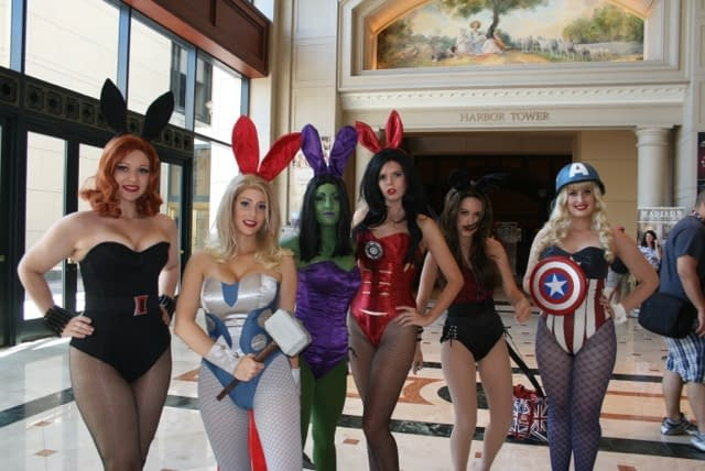When The Playboy Bunnies Cosplayed As Avengers At San Diego Comic Con