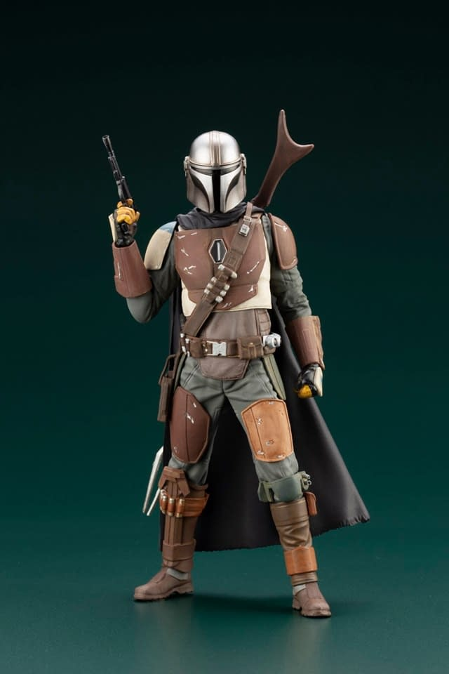 "Bounty Hunters From ""The Mandalorian"" Get Kotobukiya ARTFX Statues"
