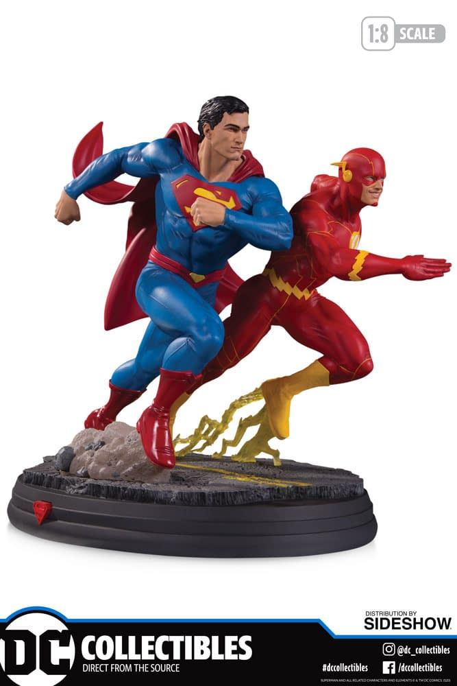 Superman Races The Flash in New DC Collectibles Statue