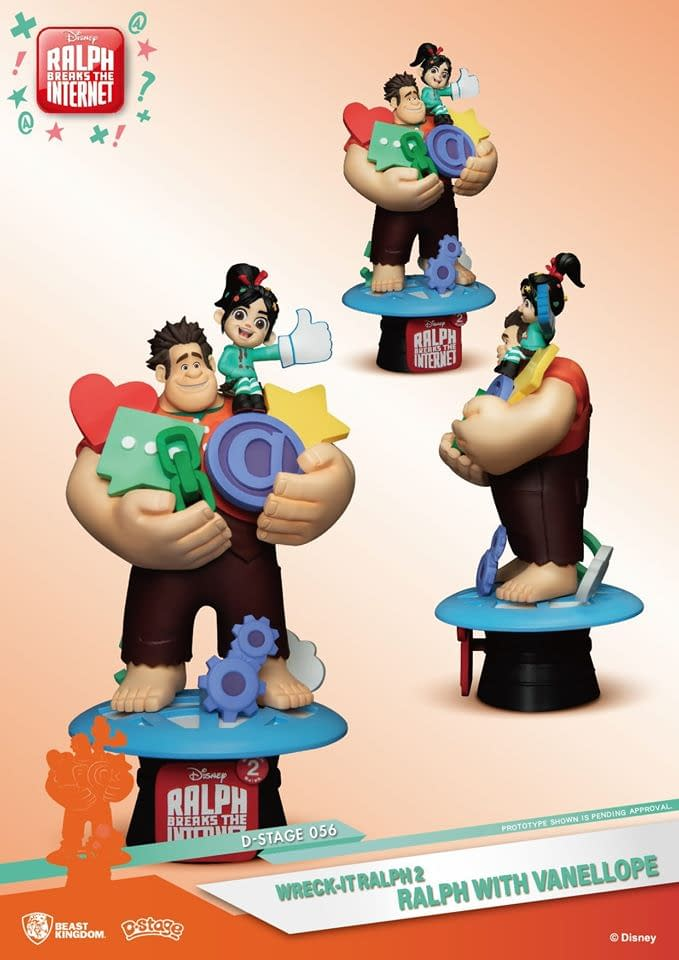 """Wreck It Ralph"" and Vanellope Get New Statue from Beast Kingdom"
