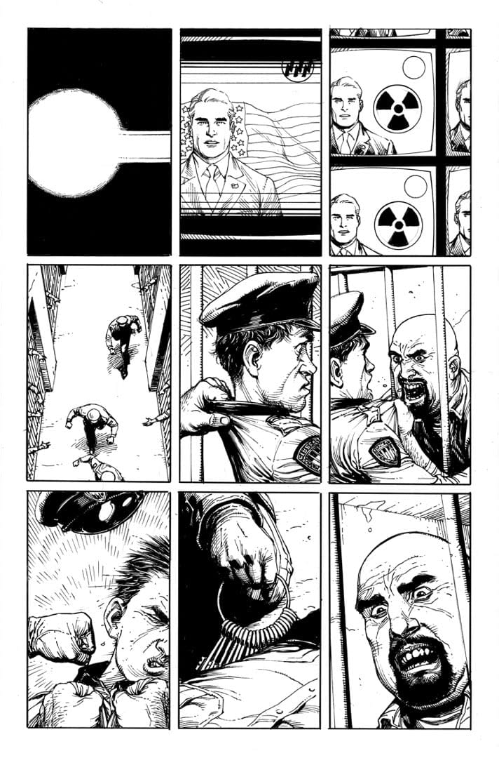 See The First Six (Unlettered) Pages Of Doomsday Clock From NYCC
