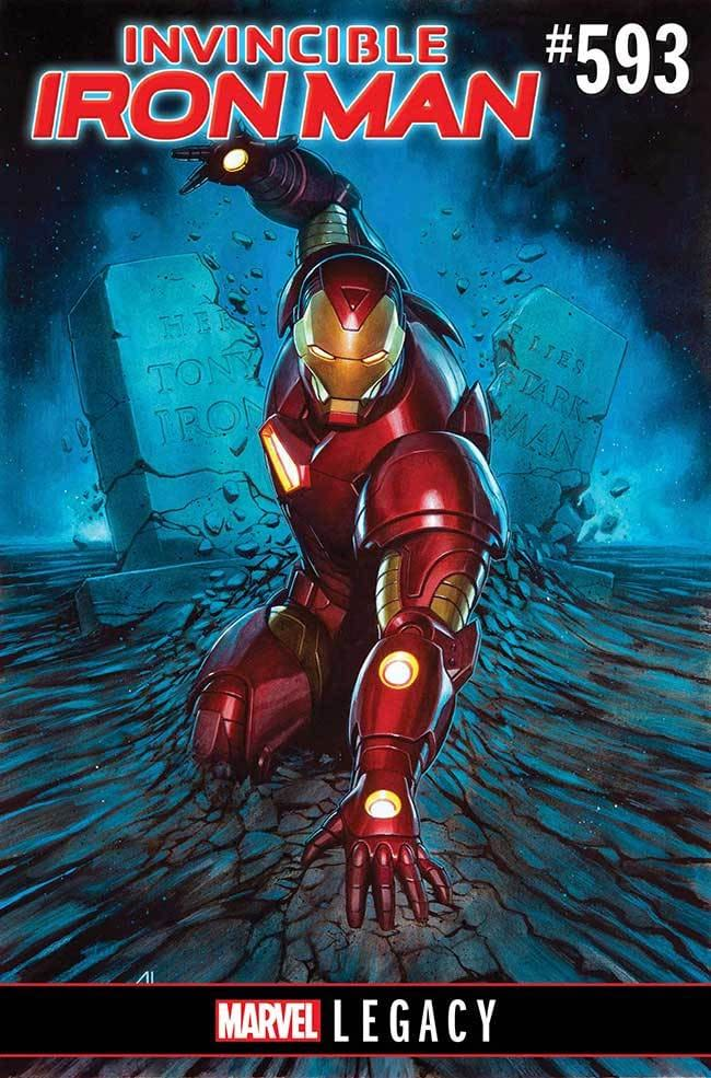 The Search For Tony Stark Begins In Invincible Iron Man #593 By Brian Bendis And Stefano Caselli For Marvel Legacy