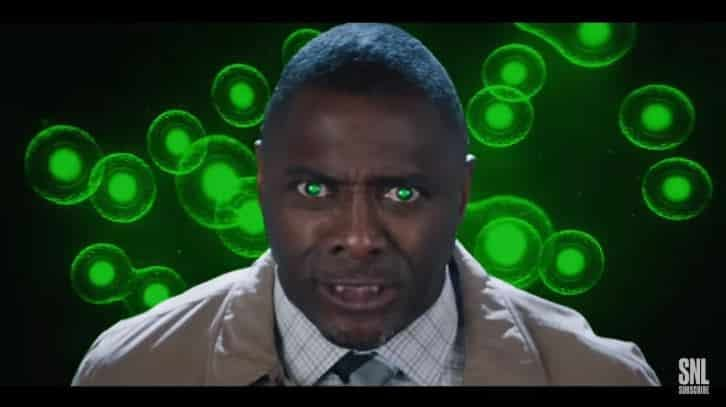 """SNL """"The Impossible Hulk"""": Don't Make Idris Elba Angry. You Won't Like Cecily Strong When He's Angry. [VIDEO]"""