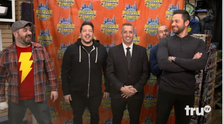 """'Impractical Jokers': Can """"Capt. Fatbelly"""" Save Shazam! Star Zachary Levi in Time? [VIDEO]"""