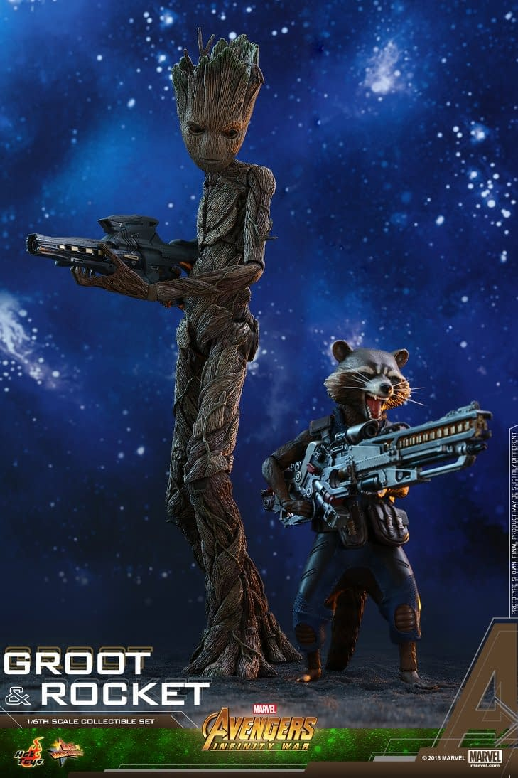 Groot and Rocket Are the Latest Avengers: Infinity War Hot Toys Announced