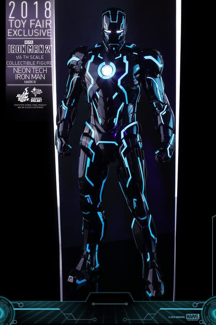 Hot Toys Neon Armor Tech Iron Man 10