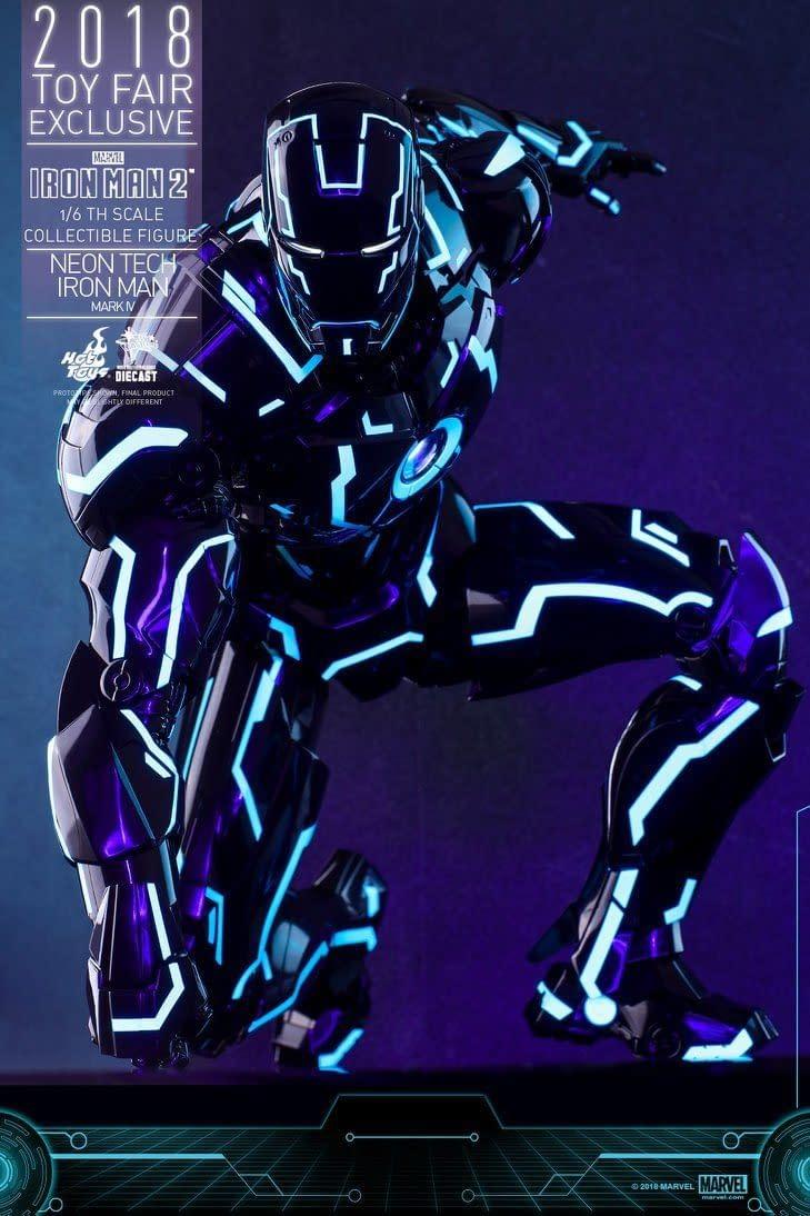 Hot Toys Neon Armor Tech Iron Man 13