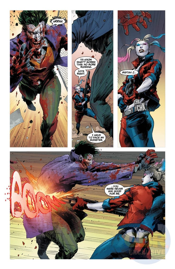 Harley Finally Gets Even with The Joker in Tomorrow's DCeased #3