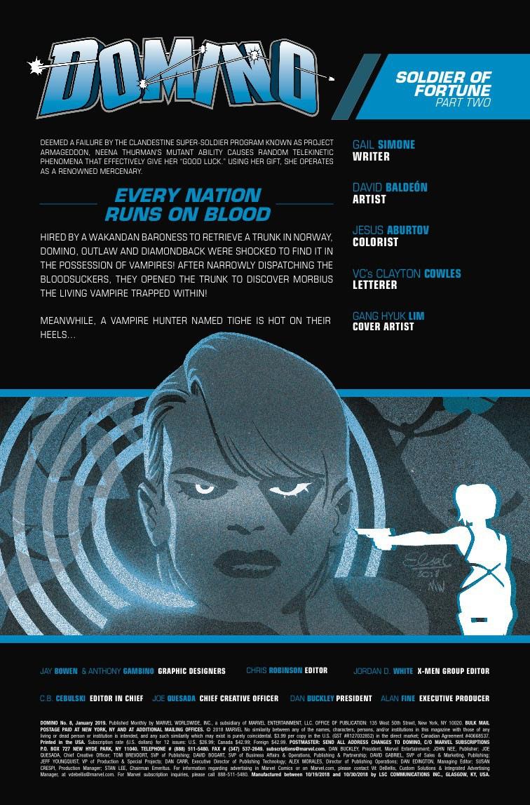 Morbius vs. Outlaw the Vampire Slayer in Next Week's Domino #8