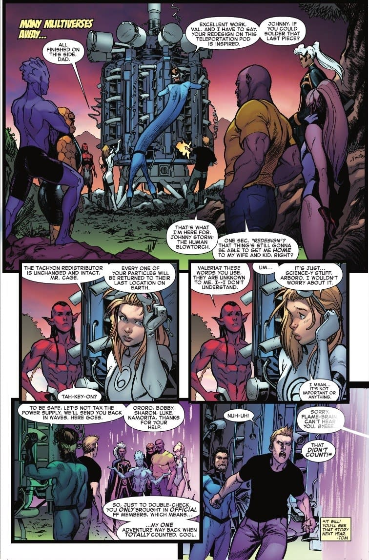 Saying Goodbye to the Future Foundation in Next Week's Fantastic Four #4