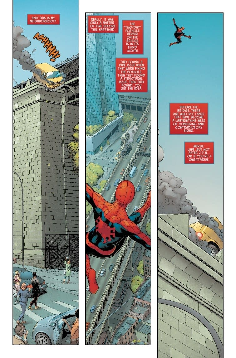 Spider-Man vs. The Department of Transportation in Next Week's Friendly Neighborhood Spider-Man #1