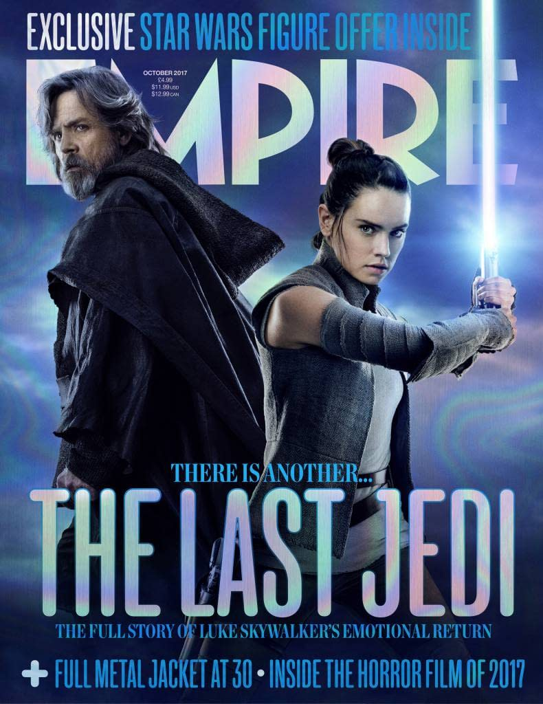 Star Wars: The Last Jedi - Rey And Luke Strike A Pose On This Empire Cover