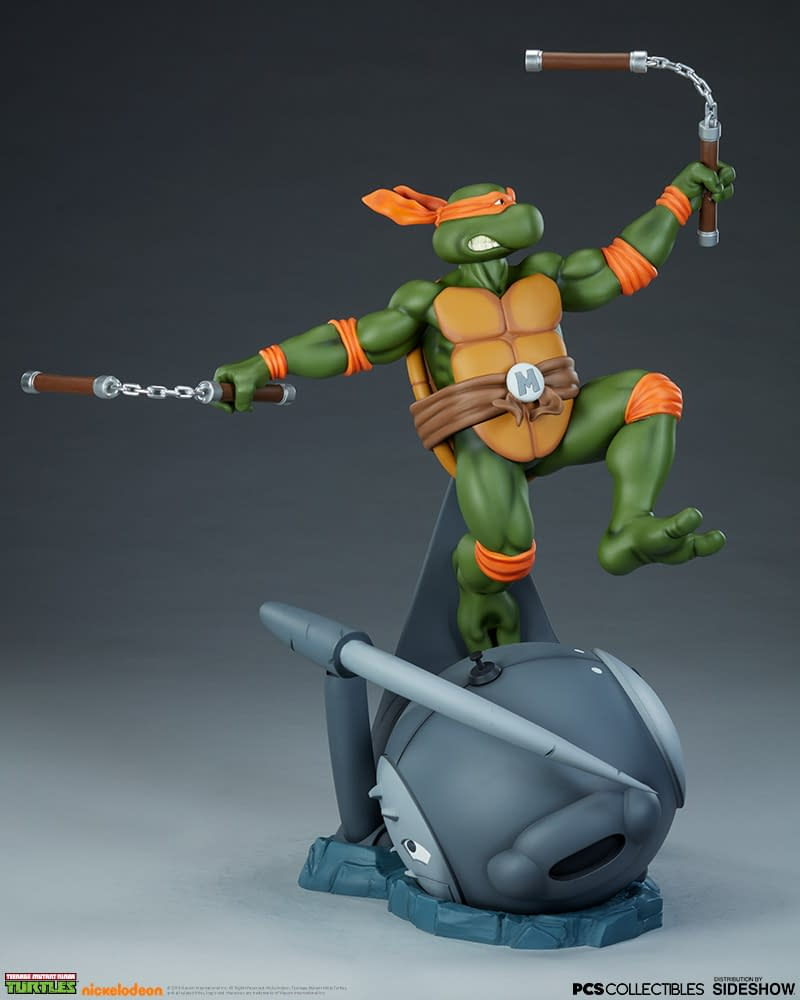 Mikey Grabs A Slice With New Tmnt Sideshow Collectibles Statue