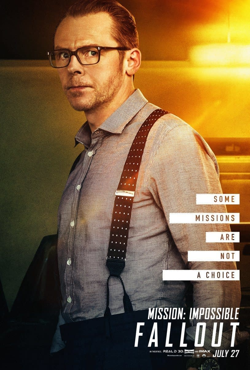 Paramount Pictures Releases 9 Character Posters for Mission: Impossible – Fallout