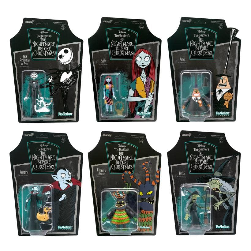 Nightmare Before Christmas Super7 ReAction Figures Available Now