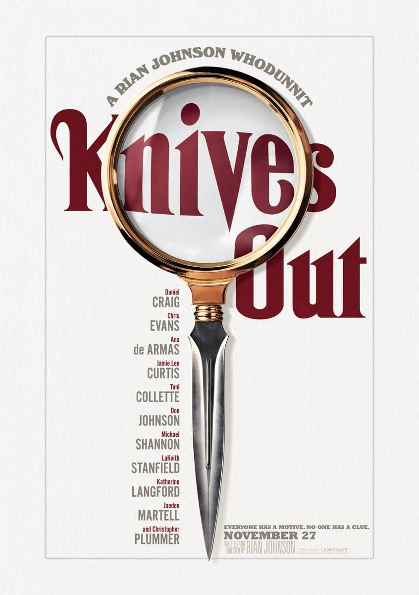 """Knives Out"": Rian Johnson Unveils All-Star Modern Day Murder Mystery [OFFICIAL TRAILER]"