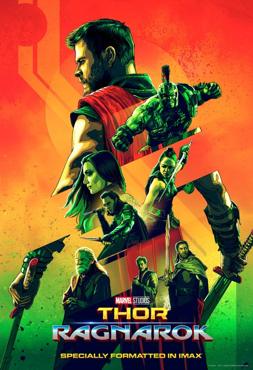 New Thor: Ragnarok IMAX Exclusive Poster Shows Off Photoshop's Ink Outlines Filter