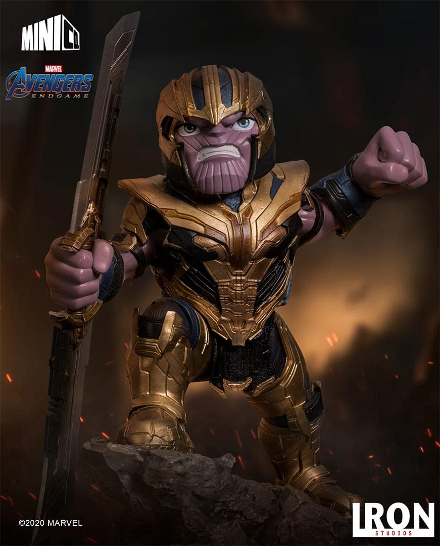 Thanos and Thor Get Minico Statues with Iron Studios