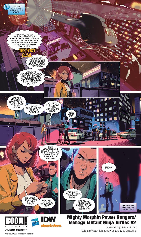 Mighty Morphin Power Rangers/Teenage Mutant Ninja Turtles 2 [Preview]