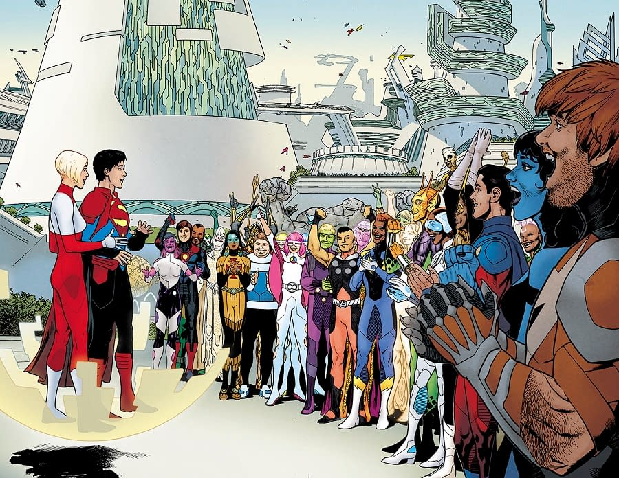 DC Shows Off Art from Bendis and Sook's Legion of Super-Heroes #1