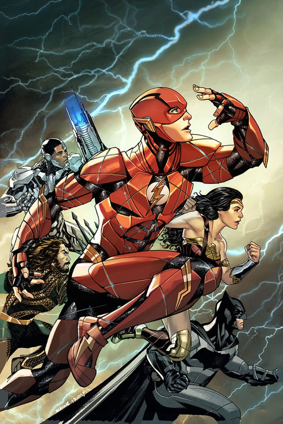 Has The Nu52 Returned, Or Are These Justice League Movie Themed Variants By Mike McKone And Terry Dodson?