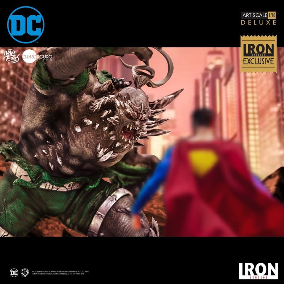 Doomsday Smashes with New Exclusive Iron Studios Statue