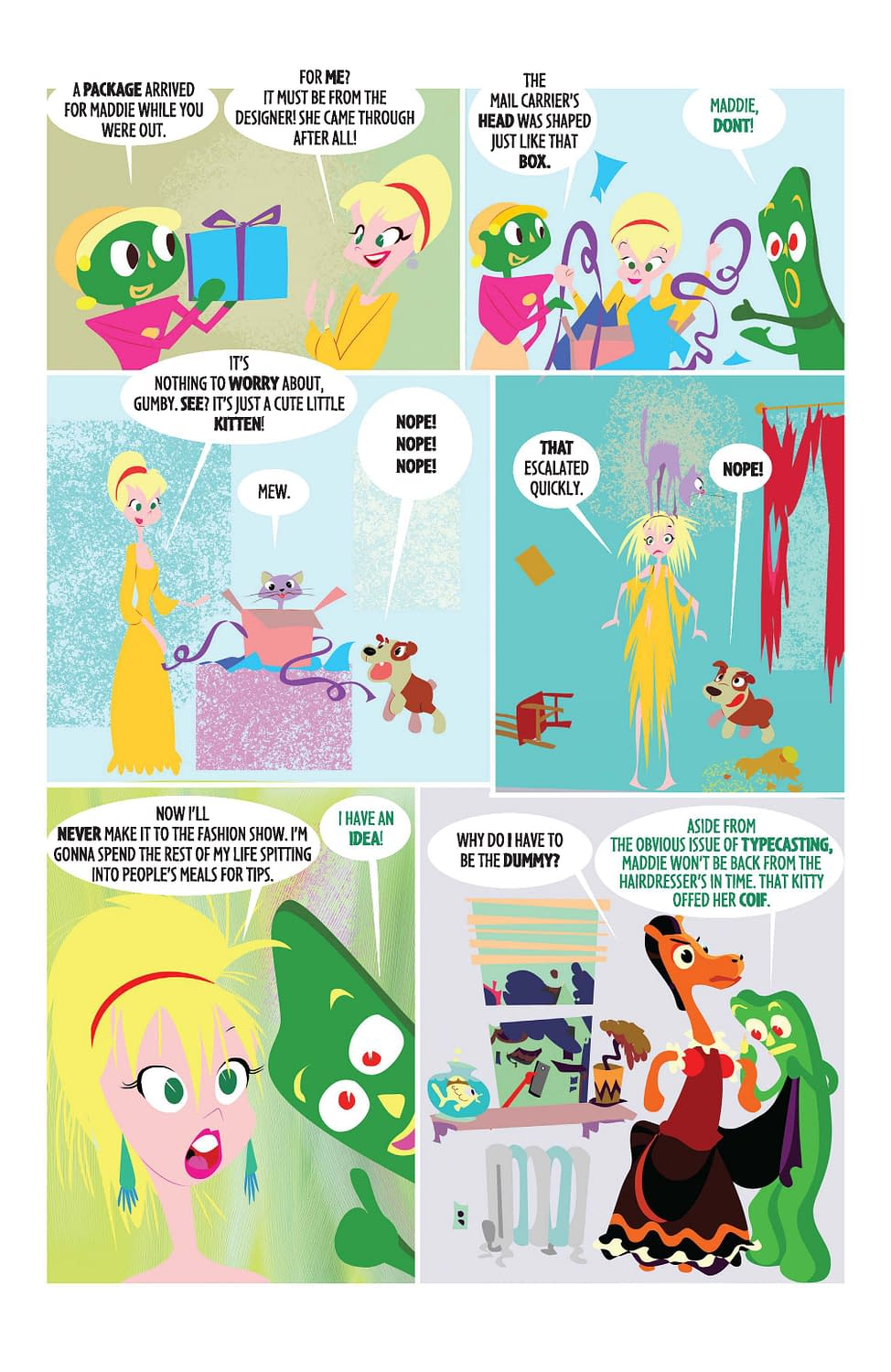 Here's A Preview Of The New Gumby Comic, That's Right, We Said The New Gumby Comic