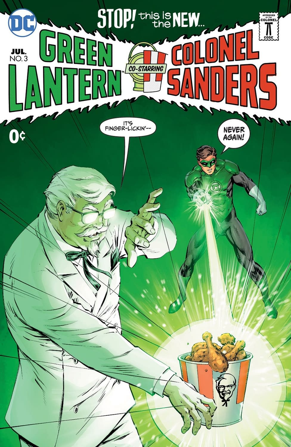 KFC And DC Comics Team Up For SDCC Exclusive Third Crossover From Tony Bedard And Tom Derenick