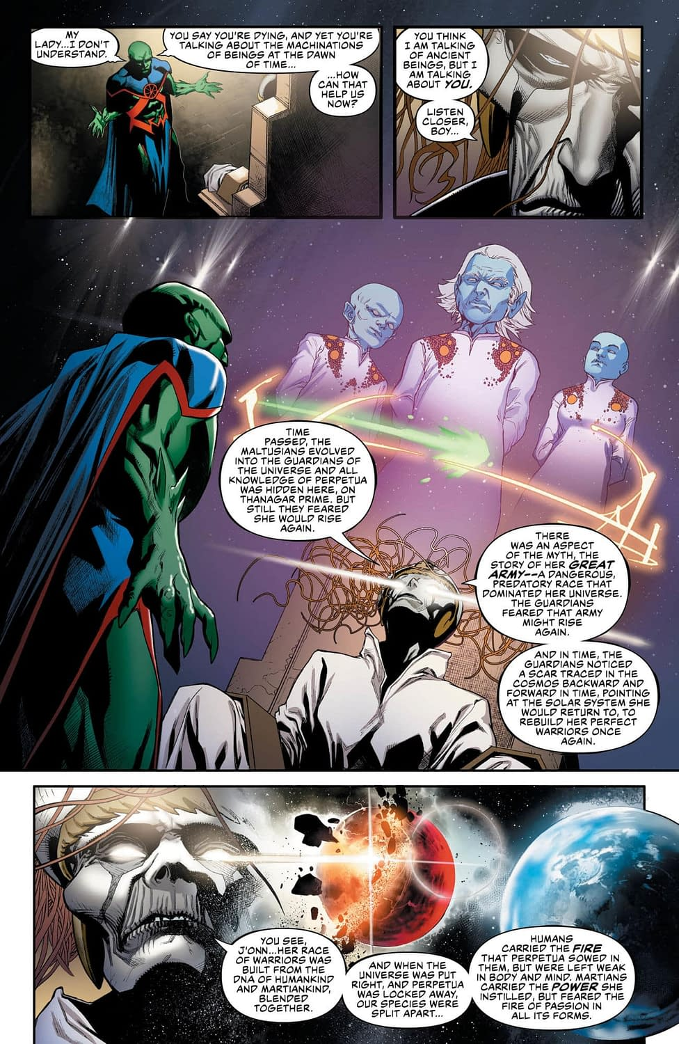 Find Out What Martian Manhunter Has in Common with Ike Perlmutter in This Week's Justice League #16