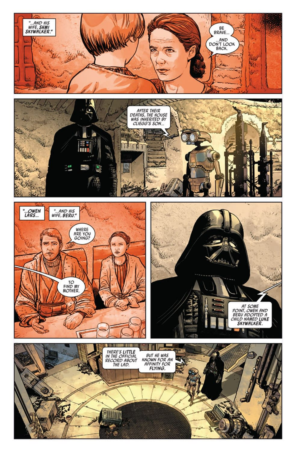 Darth Vader Haunted by Images of the Star Wars Prequels in New Darth Vader #1 [Preview]